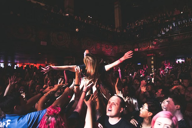 Audience at Motion City Soundtrack's House of Blues show - PHOTO BY IAN SUAREZ FOR ORLANDO WEEKLY