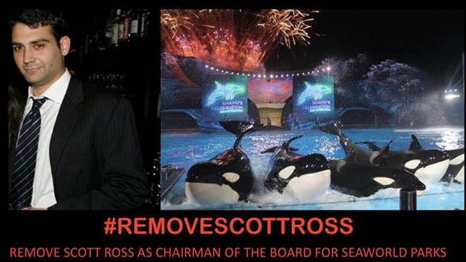 An image attached to the Stand With SeaWorld post that encourages an employee-driven grassroots initiative to remove Chairman of the Board, Scott Ross. - STAND WITH SEAWORLD | FACEBOOK
