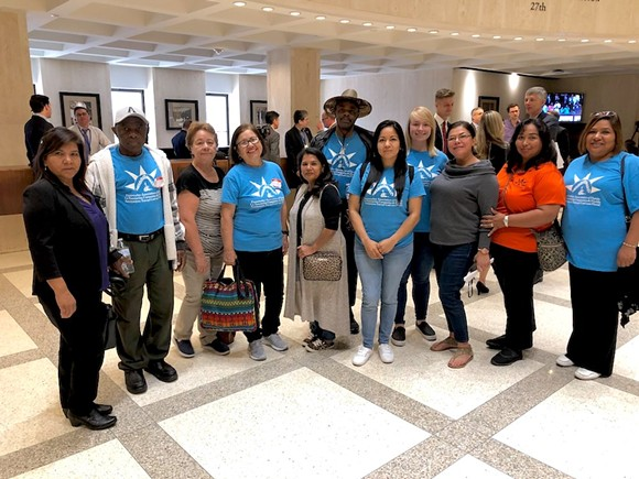 Farmworker Association of Florida representatives at the Florida Capitol in January - PHOTO VIA FARMWORKER ASSOCIATION OF FLORIDA/FACEBOOK