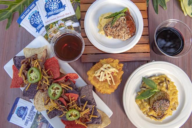 Individually plated items at the SeaWorld Orlando Seven Seas Food Festival - PHOTO COURTESY SEAWORLD