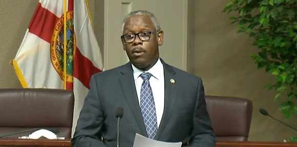 Orange County Mayor Jerry Demings on Monday - SCREENSHOT VIA ORANGE TV/YOUTUBE