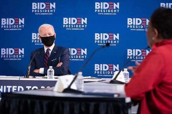 Joe Biden, masked - PHOTO COURTESY JOE BIDEN/FACEBOOK