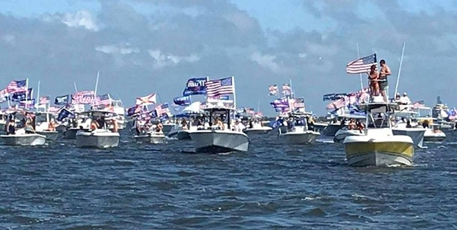 PHOTO VIA PINELLAS PATRIOTS' ‎TRUMP WORLD RECORD BOAT PARADE/FACEBOOK