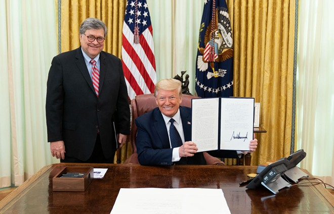 'I believe that William Barr poses the greatest threat in my lifetime to our rule of law' – George H.W. Bush - OFFICIAL WHITE HOUSE PHOTO BY SHEALAH CRAIGHEAD