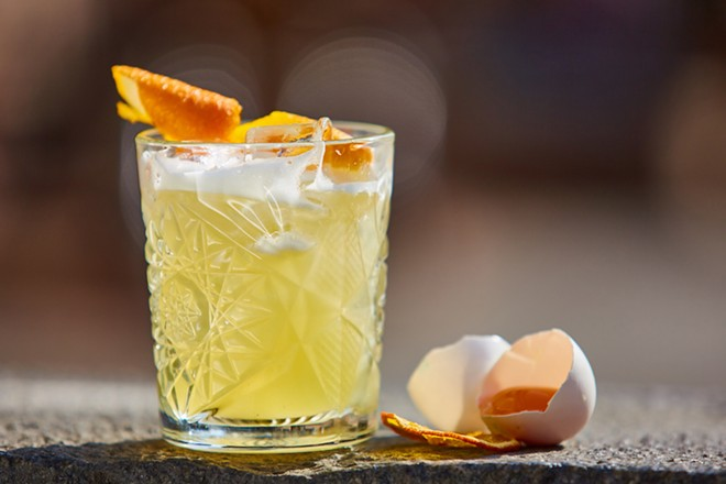 Whiskey Sour, and you have a glass like this - PHOTO VIA ADOBE STOCK