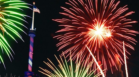 Fireworks over SeaWorld - PHOTO COURTESY SEAWORLD/FACEBOOK
