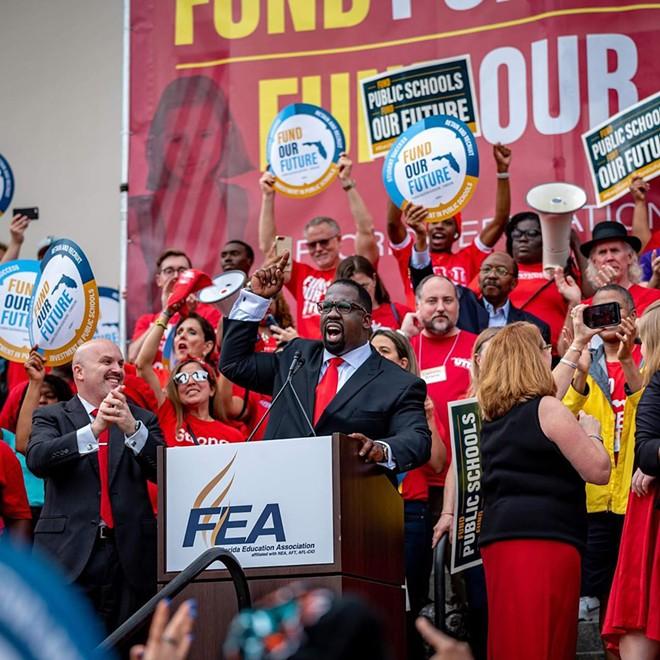 Florida Education Association President Fedrick Ingram in January - PHOTO VIA FEA/INSTAGRAM
