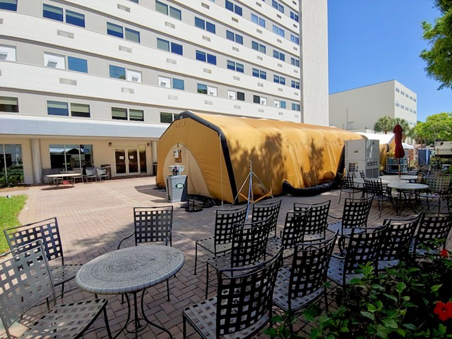 Orlando Health testing an inflatable hospital structure in April - PHOTO BY DAVE PLOTKIN