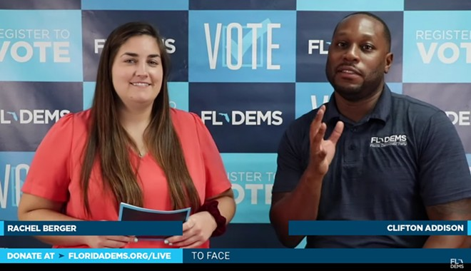 The Florida Democratic Party's virtual convention on Friday - SCREENSHOT VIA FLORIDA DEMOCRATIC PARTY/YOUTUBE