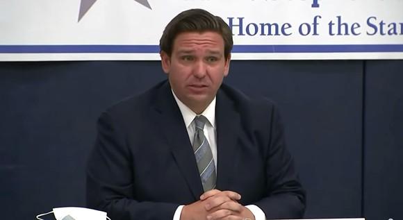 Gov. Ron DeSantis on Wednesday - SCREENSHOT VIA FLORIDA CHANNEL