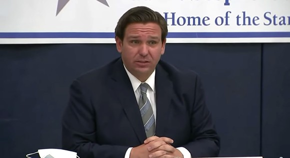 Gov. Ron DeSantis on Wednesday - SCREENSHOT VIA FLORIDA CHANNEL