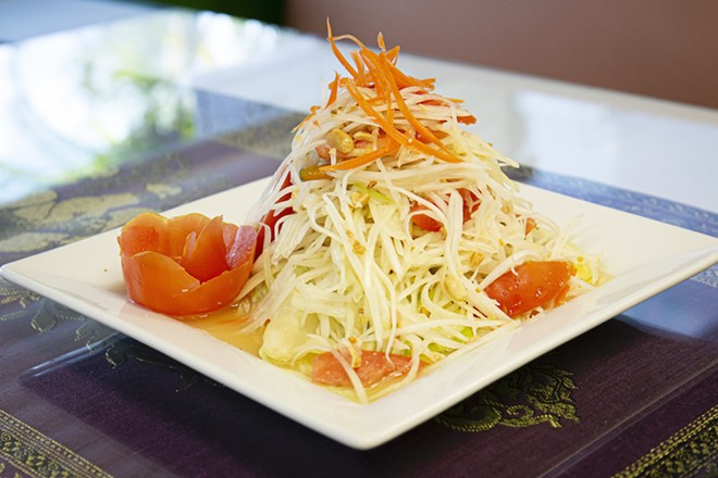 Green papaya salad at Mee Thai - PHOTO BY ROB BARTLETT