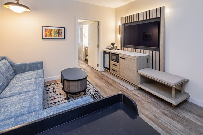A look at a renovated Rauschenberg-esque suite - PHOTO COURTESY CARIBE ROYALE