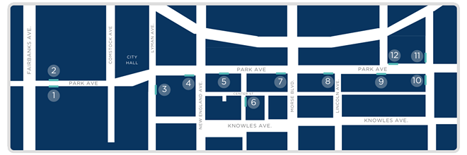 Curbside To-Go Initiative Map - PHOTO COURTESY THE CITY OF WINTER PARK
