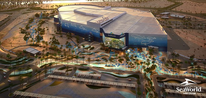 SeaWorld Abu Dhabi Aerial Render - IMAGE VIA PRNEWSFOTO/MIRAL, SEAWORLD PARKS & ENTERTAINMENT