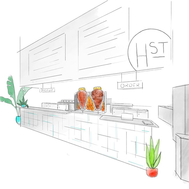 Rendering of Hunger Street Tacos inside the Plant Street Market - HUNGER STREET TACOS