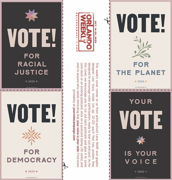 POSTCARDS DESIGNED BY LENA WOLFF AND LEXI VISCO FOR YOUR VOTE