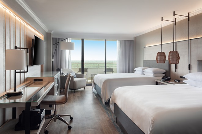 A look at one of the updated standard rooms at the Orlando World Center Marriott - IMAGE VIA ORLANDO WORLD CENTER MARRIOTT