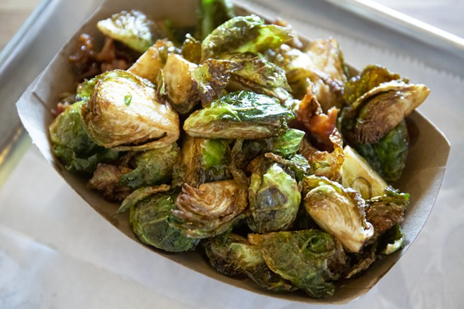 Fried Brussels sprouts tossed in bacon and honey - PHOTO BY ROB BARTLETT