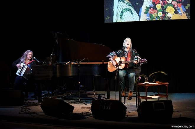 Beth McKee and Terri Binion at the Blue Bamboo Center for the Arts - PHOTO BY JEN CRAY
