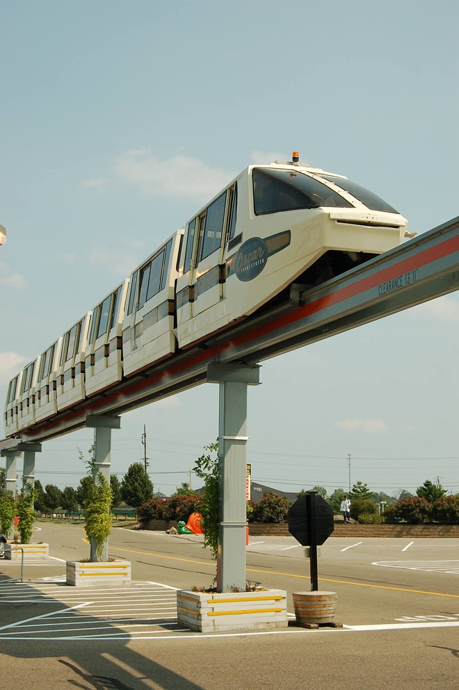 The monorail at the Jungle Jim's Fairfield location. - IMAGE VIA JUNGLE JIM'S INTERNATIONAL MARKET | FACEBOOK