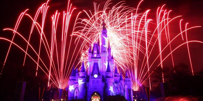 A pre-COVID firework display at the Magic Kingdom - PHOTO VIA DISNEY