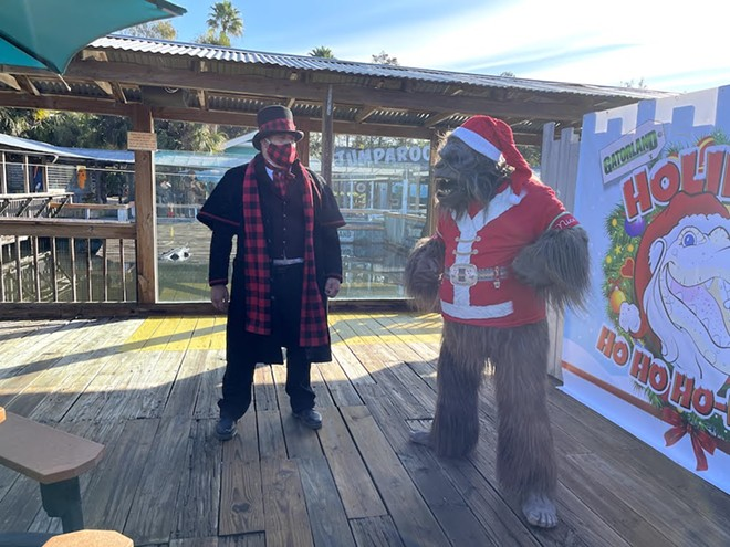 The Socially Distanced Skunk Ape is the Santa we need in 2020 - PHOTO BY SETH KUBERSKY