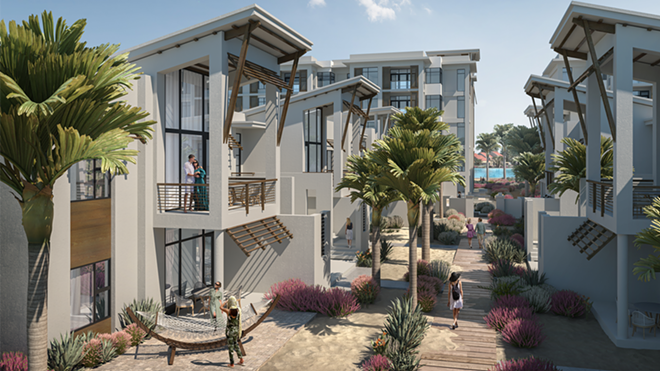 Concept art for the apartment-style vacation rentals within Evermore Resort - IMAGE VIA EVERMORE RESORT