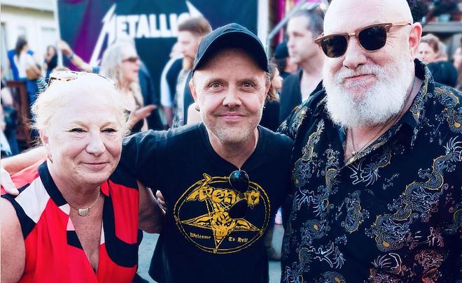 Marsha Zazula, Lars Ulrich, Jon Zazula - PHOTO COURTESY LARS ULRICH/INSTAGRAM