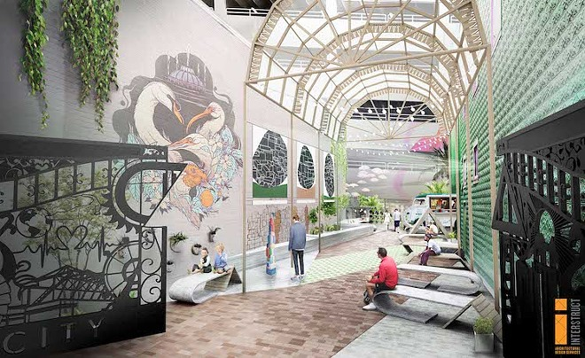 Interstruct rendering of the CityArts patio - PHOTO COURTESY DOWNTOWN ARTS DISTRICT