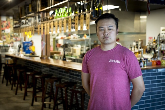 Lewis Lin at his restaurant Susuru - PHOTO BY ROB BARTLETT