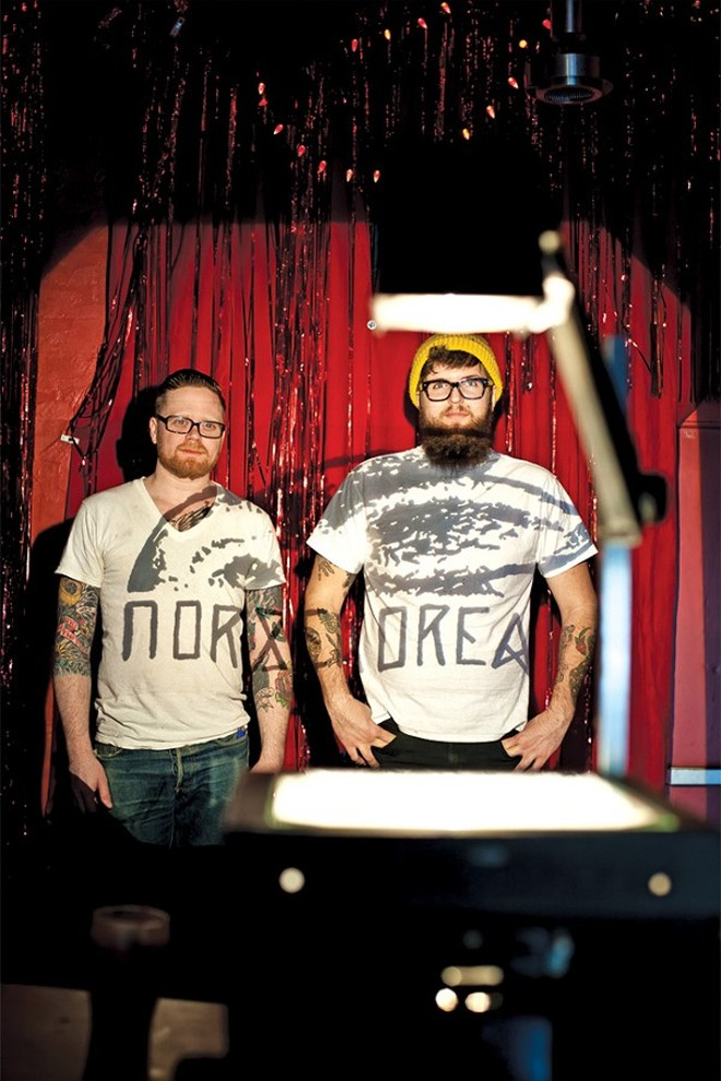 Norskorea's Kyle Raker and Bradley Ryan - ROB BARTLETT