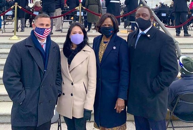 Darren Soto, Stephanie Murphy, Val Demings, Jerry Demings (l-r) - PHOTO COURTESY CONGRESSWOMAN STEPHANIE MURPHY/FACEBOOK