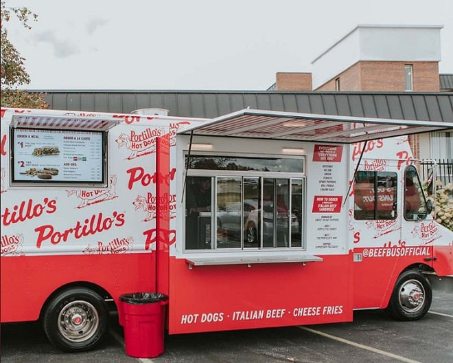 Portillo's Beef Bus - PHOTO COURTESY PORTILLO'S/TWITTER