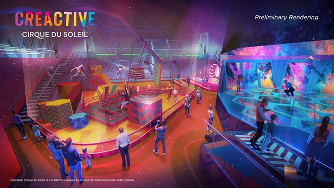 Concept art for the indoor Cirque du Soleil themed FECs - IMAGE VIA CIRQUE DU SOLEIL