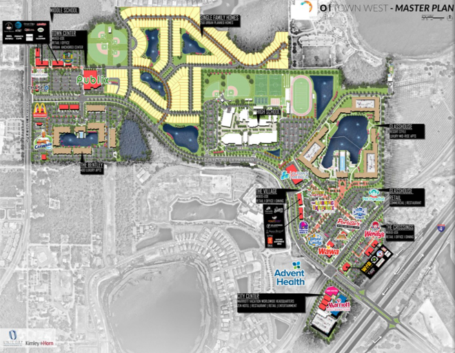 An overview of the O-Town West development, now under construction - IMAGE VIA UNICORP