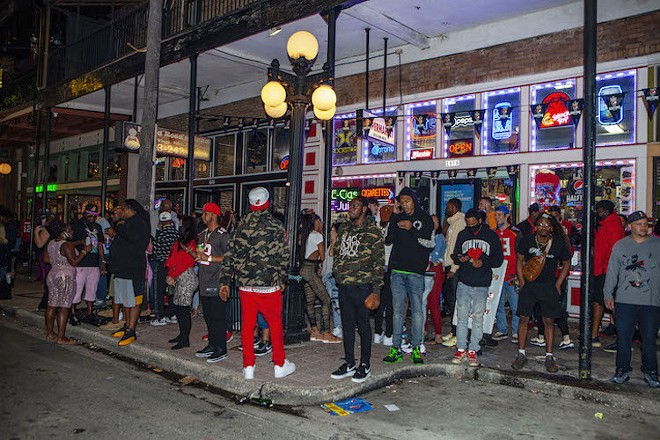 Crowded streets in Ybor City Post Super Bowl - PHOTOS BY KIMBERLY DEFALCO