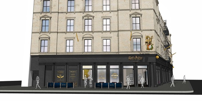 Concept art for the Harry Potter flagship store opening in 2021 at 935 Broadway in New York. - IMAGE VIA HARRY POTTER NEW YORK