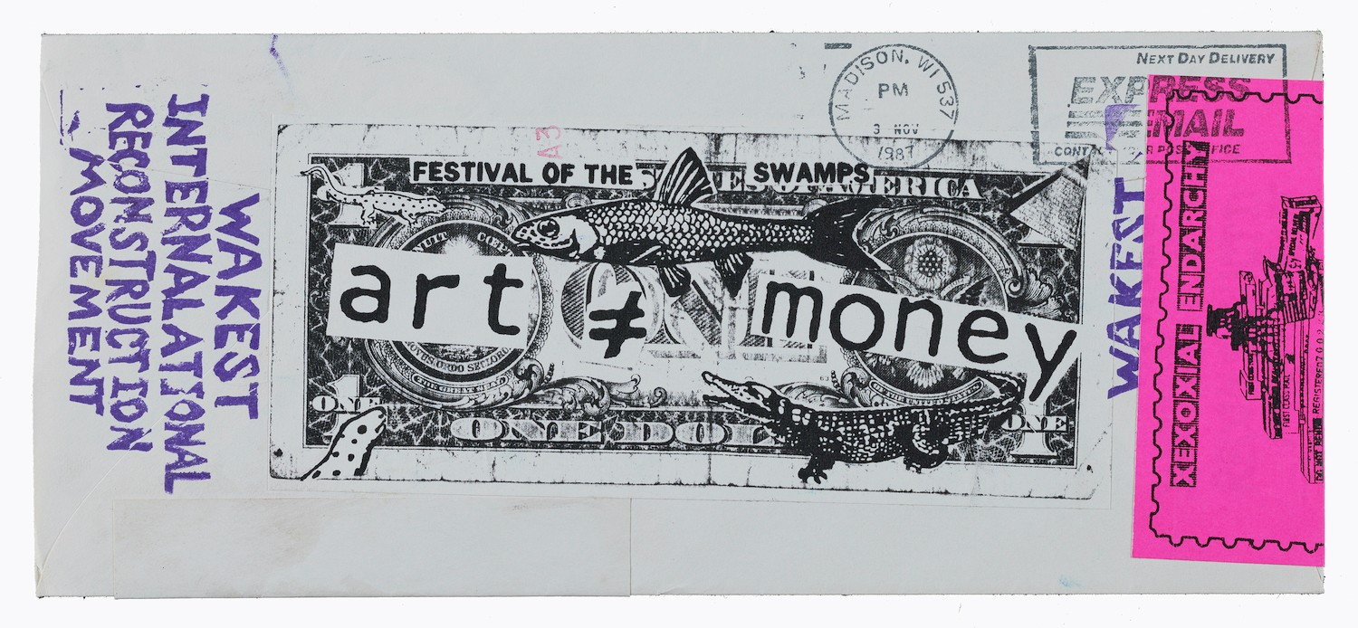 Elizabeth Pearl Nasaw, aka Lyx Ish, aka Elizabeth Was, mail art to John Held Jr., 1987. John Held papers relating to Mail Art, Archives of American Art, Smithsonian Institution. - JOHN HELD PAPERS RELATING TO MAIL ART, ARCHIVES OF AMERICAN ART, SMITHSONIAN INSTITUTION.