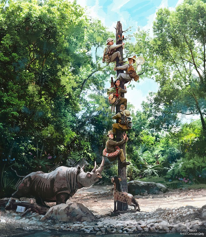 Concept art provided by Disney for the revamped Jungle Cruise - PHOTO COURTESY DISNEY PARKS BLOG