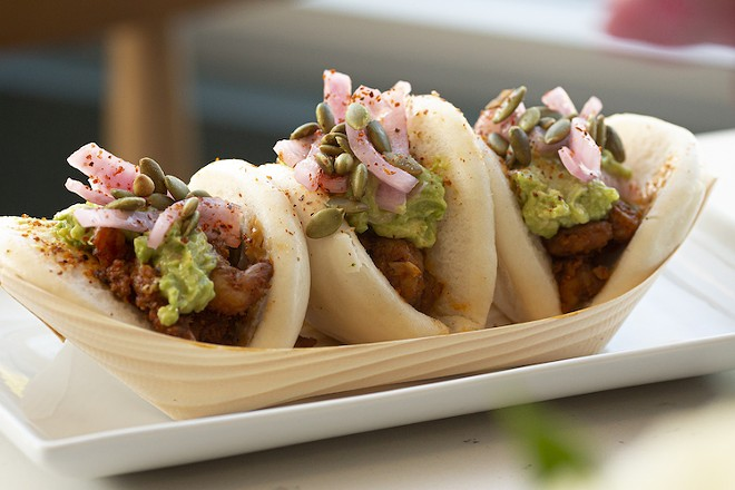 Shrimp bao. - PHOTO BY ROB BARTLETT