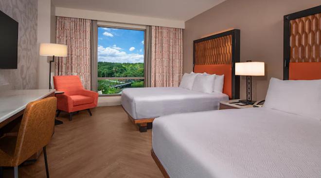 A standard room in the Gran Destino Tower at Disney's Coronado Springs Resort - IMAGE COURTESY OF DISNEY