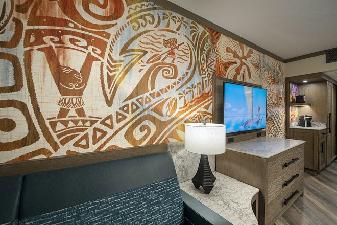 An updated Moana-themed room at Disney's Polynesian Village Resort at Walt Disney World - IMAGE COURTESY OF DISNEY