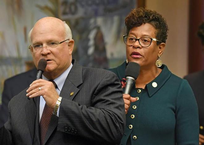 State Senator Dennis Baxley of Ocala seeks to limit the state scholarship program. - PHOTOS VIA FLORIDA HOUSE OF REPRESENTATIVES