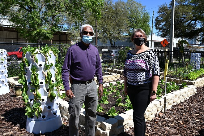 Parramore Community Garden president Lynn Nicholson and ORRA director Candy Cole. - PHOTO VIA ORRA