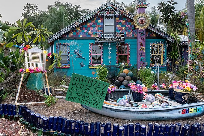Whimzeyland's exterior is a kaleidoscope of art - PHOTO BY JENNIFER RING