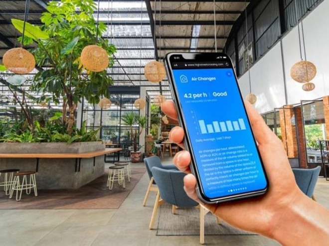 An IAQ monitoring app by Carbon Lighthouse - IMAGE VIA CARBON LIGHTHOUSE