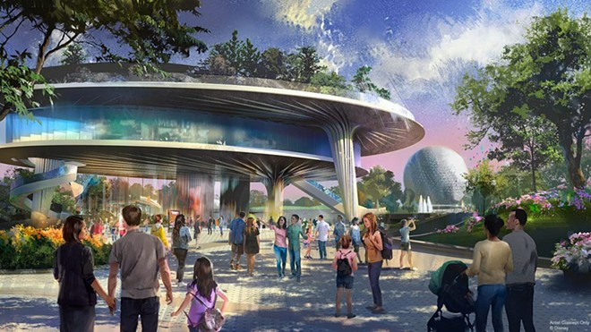 The previously announced but now postponed multi-level Festival Center heading to Epcot - IMAGE VIA DISNEY D23