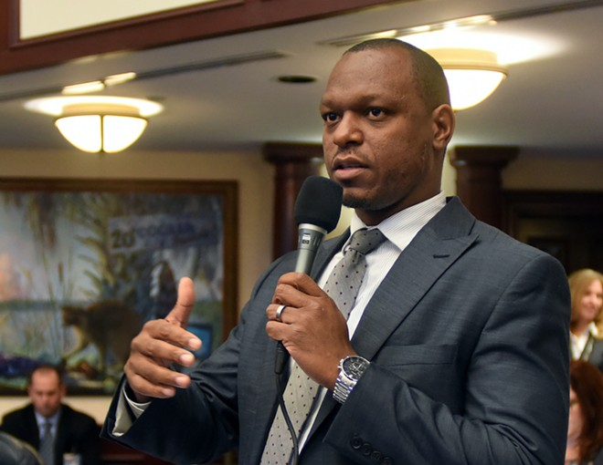 "Sen. Randolph Bracy, D-Ocoee, said during floor debate Black and brown people are treated differently by law enforcement. ""If a person does not believe that, then they're in denial. I think we have to realize what this bill will do."" - PHOTO COURTESY FLORIDA HOUSE"