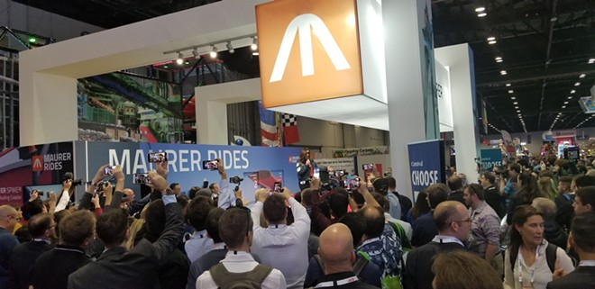Social distancing was a rarity at previous IAAPA Expos, but the association confirms it will use all necessary safety measures moving forward. - IMAGE VIA KEN STOREY